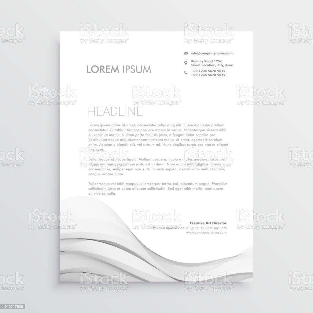 Ilustración de Plantilla De Diseño De Papel Membretado Limpio Vector ...