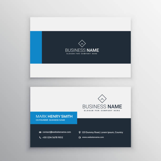 Royalty free business cards clip art vector images illustrations clean minimal business card template vector art illustration colourmoves