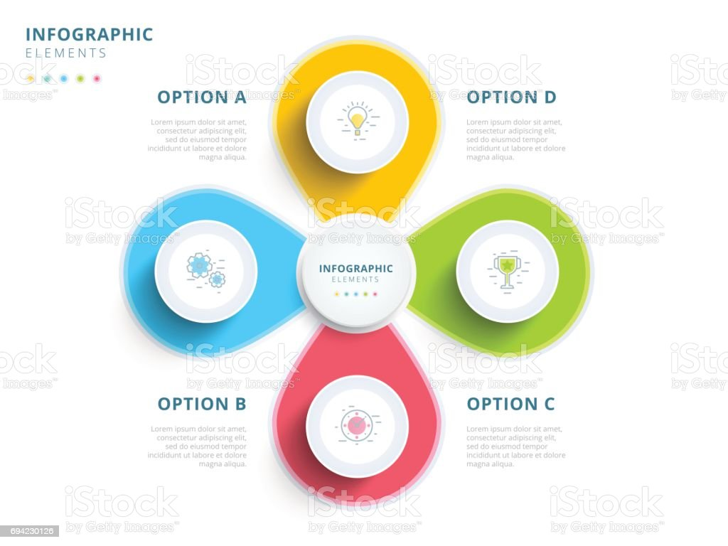 6 Steps Circle Diagram With Powerpoint Icons Circular Flow 11 Multiple Jigsaw Templates Graphics Slides 0712 Clean Minimalistic Business 4 Step Process Chart Infographics Circles Bright Corporate Graphic Elements