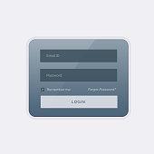 clean modern login form ui template design