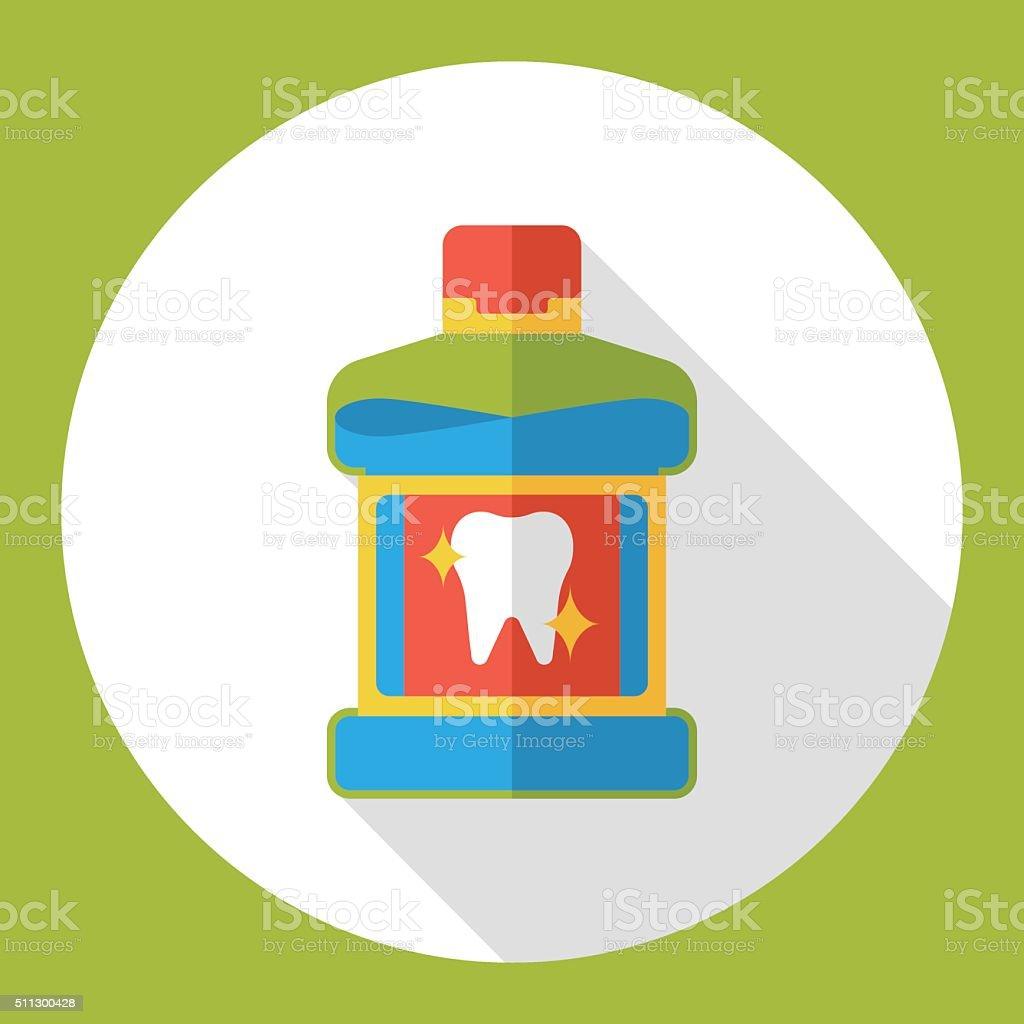 clean Mouthwash flat icon vector art illustration