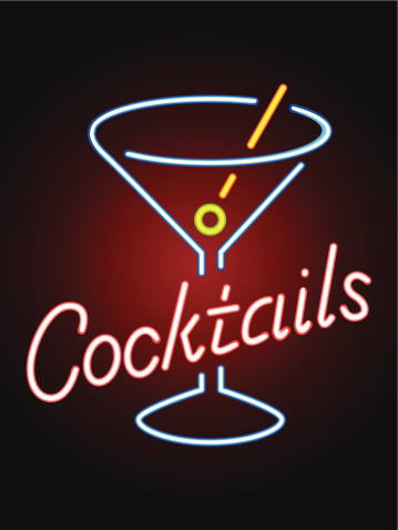 Clean Neon Cocktail Sign