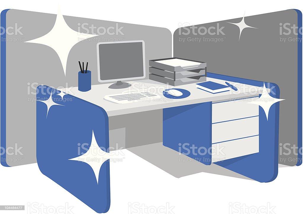 Limpieza escritorioestaci n de trabajo arte vectorial de - Escritorio de trabajo ...