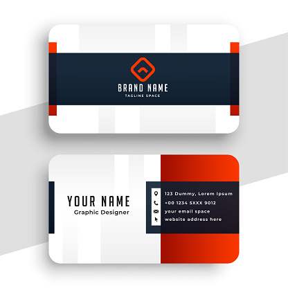 clean red business card template design