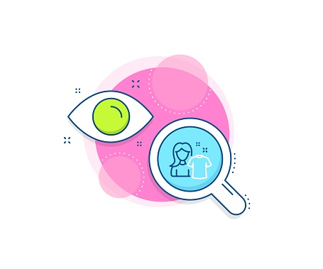 Clean shirt line icon. Laundry tshirt sign. Clothing cleaner. Vector