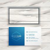 clean simple blue business card template vector design illustration