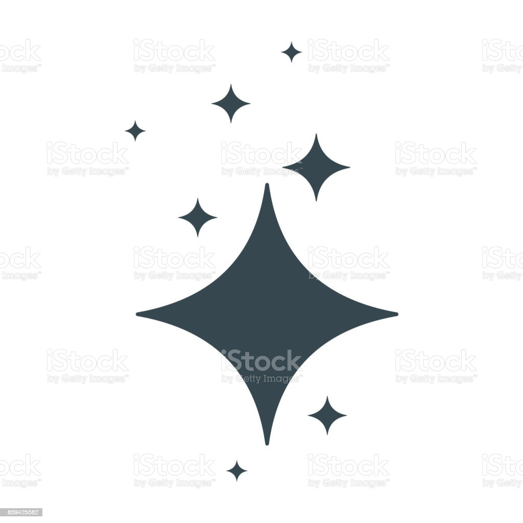 clean star black icon vector art illustration