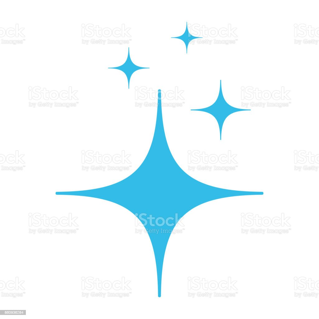clean star icon vector art illustration