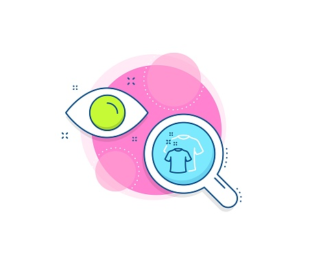 Clean t-shirt line icon. Laundry shirt sign. Clothing cleaner. Vector