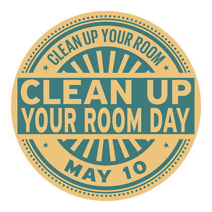 Clean Up Your Room Day stamp
