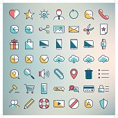 clean web icon set