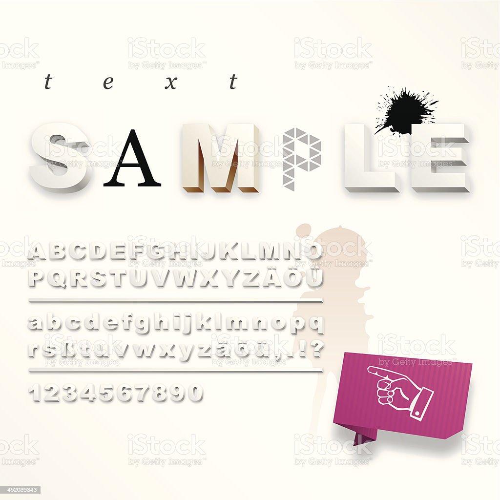 Weiß 3d alphabet – Vektorgrafik