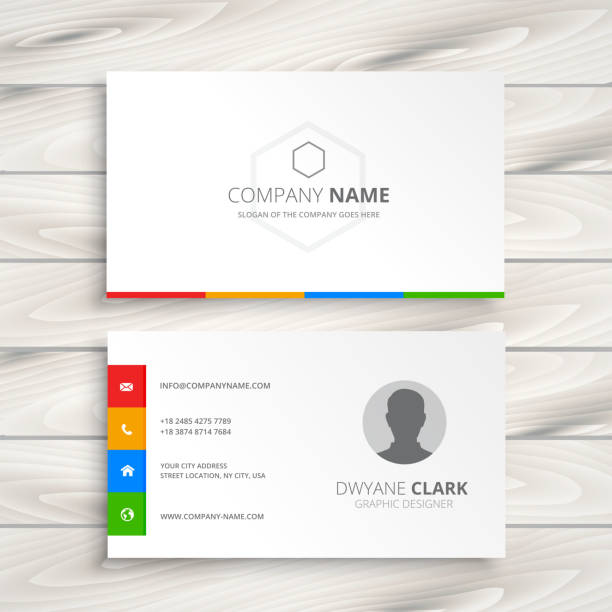 Royalty free business card clip art vector images illustrations clean white business card vector art illustration colourmoves Image collections