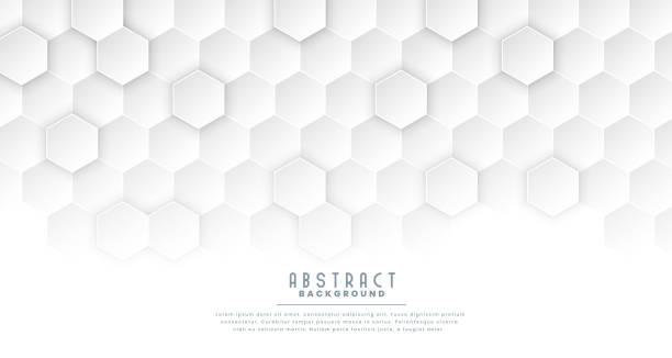 sauberes weißes sechseckliches medizinisches Konzept Hintergrund – Vektorgrafik