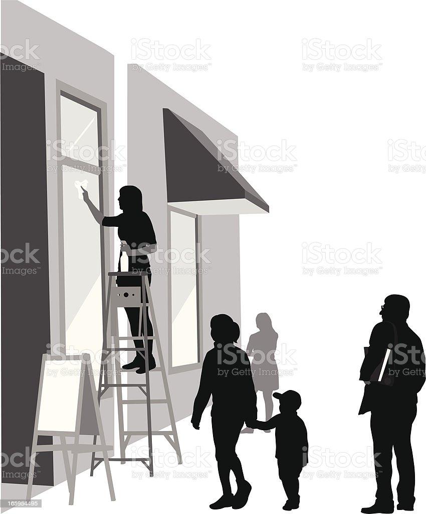 Clean Windows Vector Silhouette vector art illustration