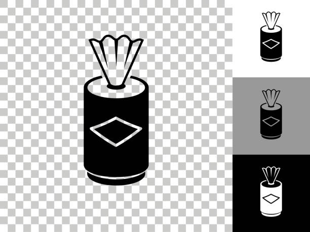Clean Wipes Icon on Checkerboard Transparent Background vector art illustration