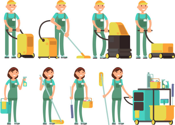 Best Cleaner Illustrations Royalty Free Vector Graphics