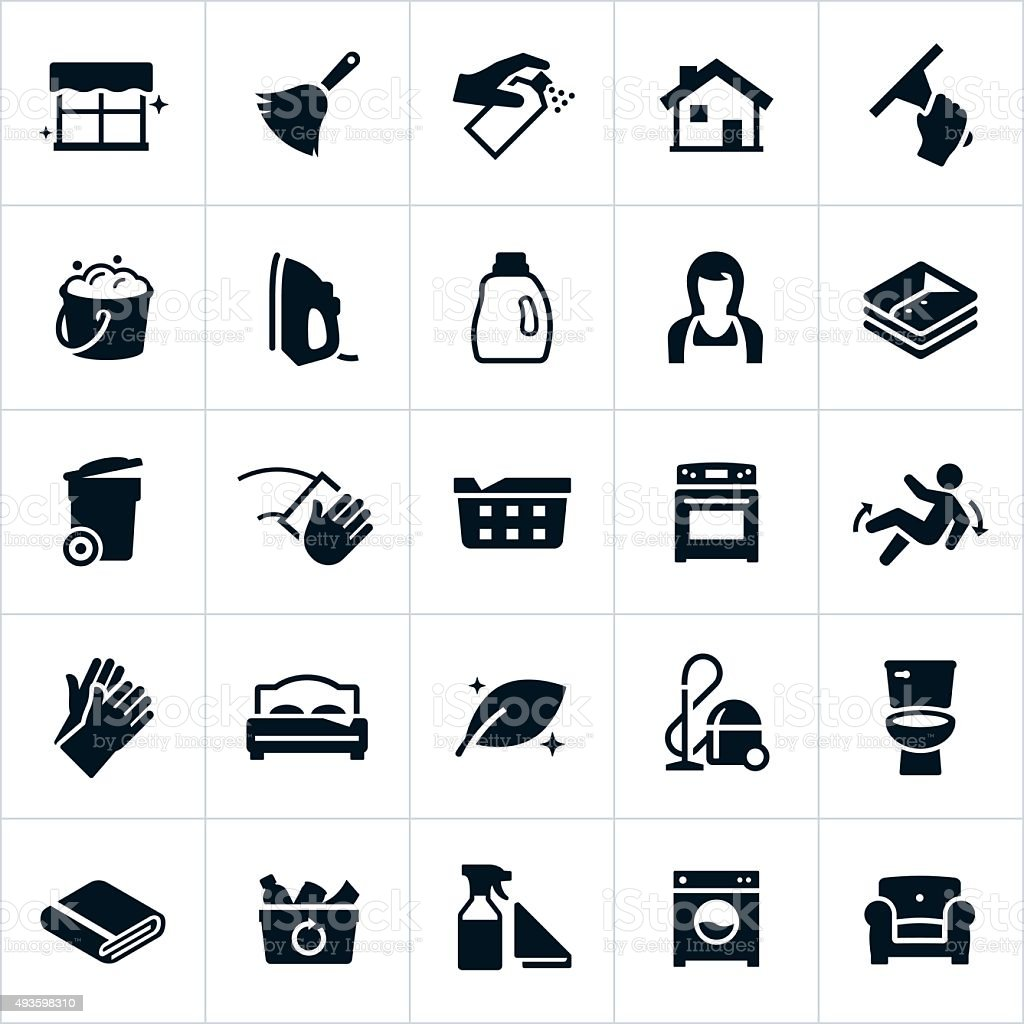 Cleaning and Housekeeping Icons