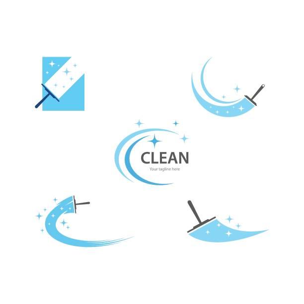 temizleme logosu ve sembolü - cleaning stock illustrations