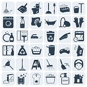 Cleaning and washing vector icon set.Vector symbols. Vector illustration