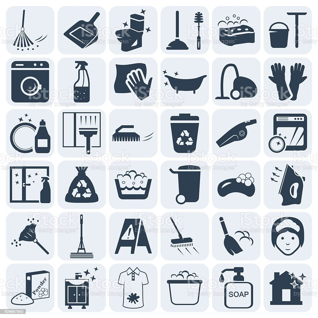 Cleaning and washing vector icon set.Vector symbols. Vector illustration vector art illustration