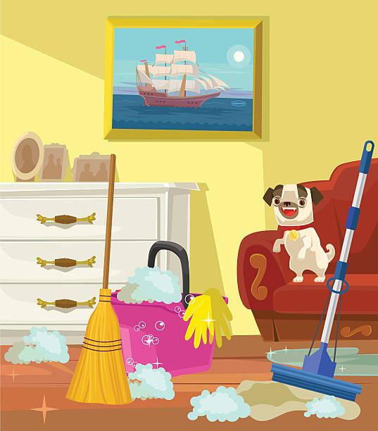 Cartoon Living Room: Royalty Free Messy House Clip Art, Vector Images