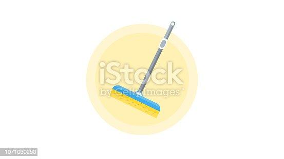 istock Cleaning Brush Glass Window Wiper Scraping Tool Vector 1071030250