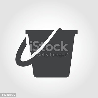 istock Cleaning Bucket Icon - Iconic Series 540568432