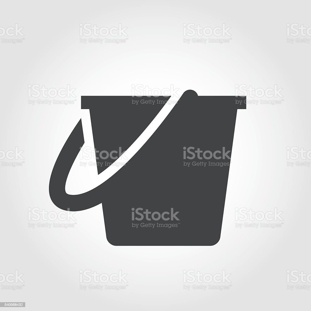 Cleaning Bucket Icon - Iconic Series vector art illustration