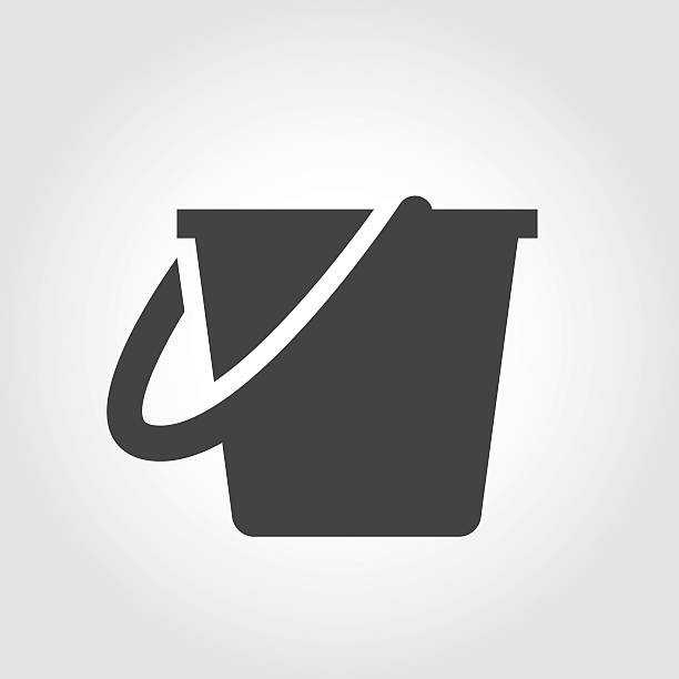 stockillustraties, clipart, cartoons en iconen met cleaning bucket icon - iconic series - emmer