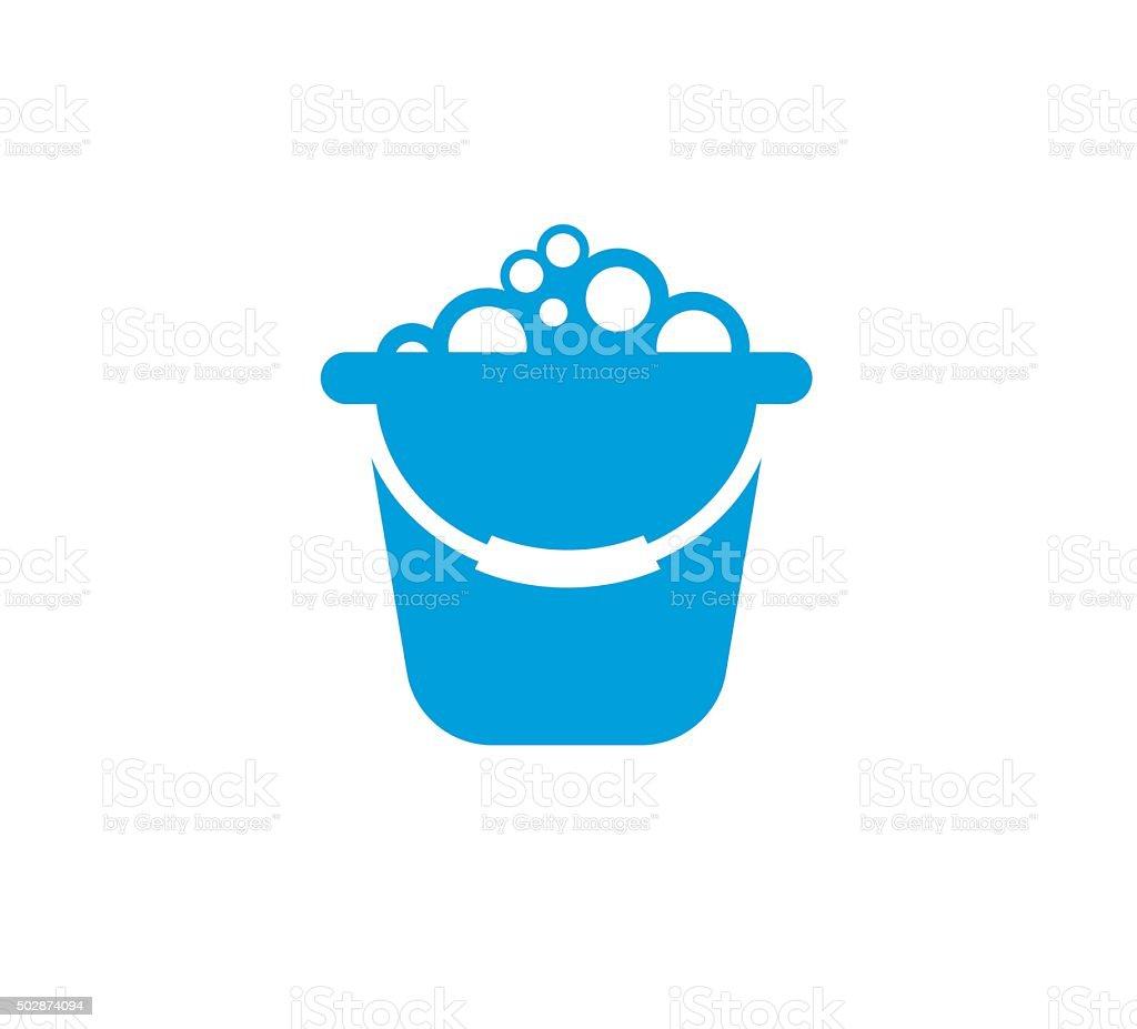 Cleaning Bucket Symbol vector art illustration