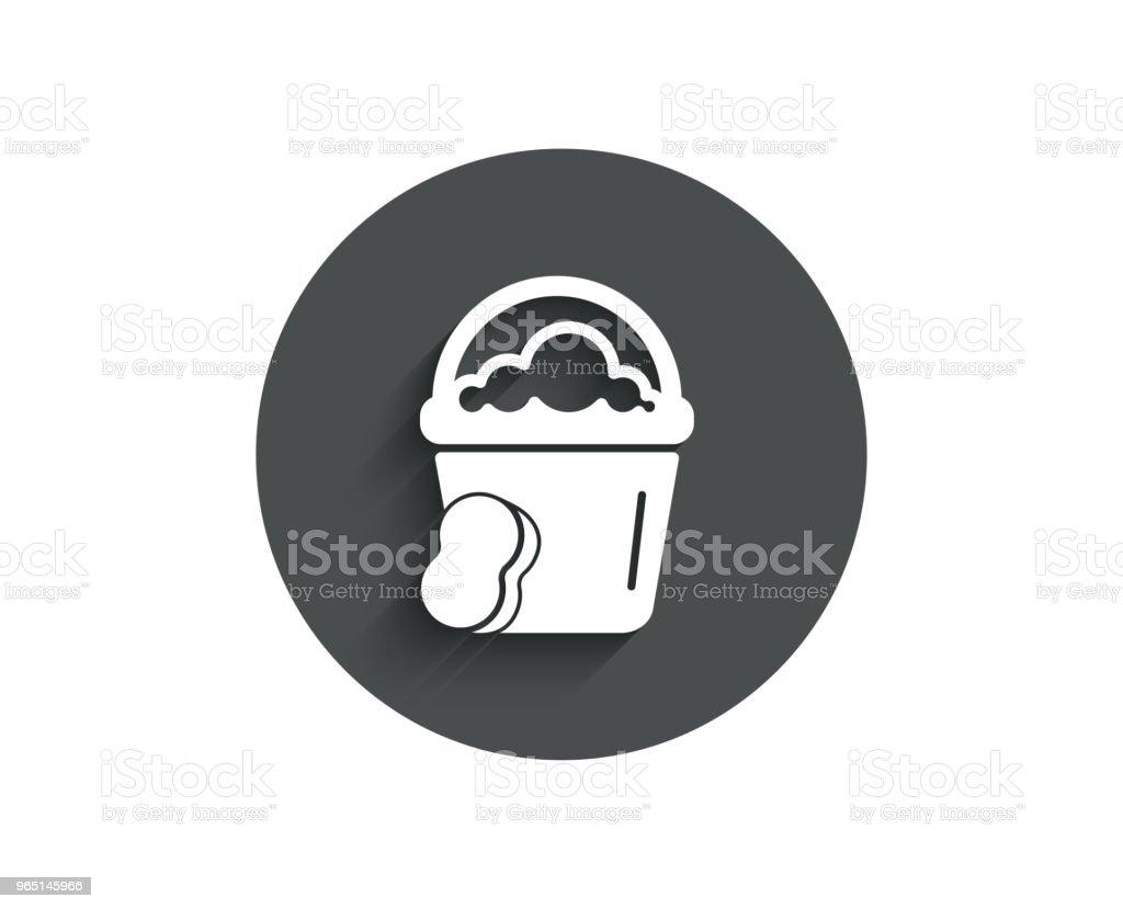 Cleaning bucket with sponge simple icon. cleaning bucket with sponge simple icon - stockowe grafiki wektorowe i więcej obrazów aplikacja mobilna royalty-free