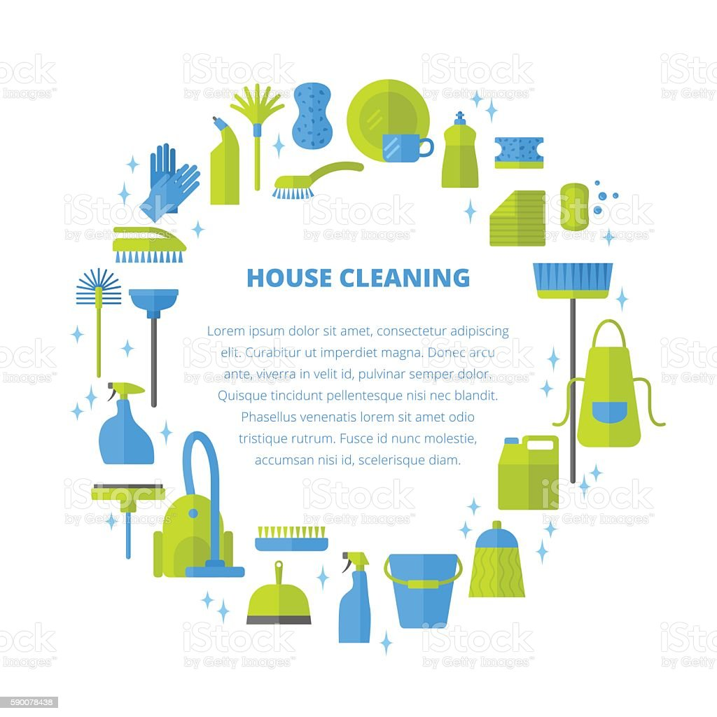 Cleaning concept. vector art illustration