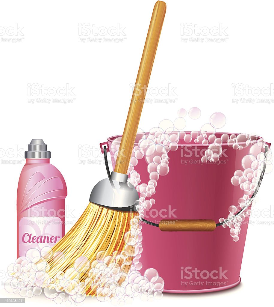 Cleaning Icon vector art illustration