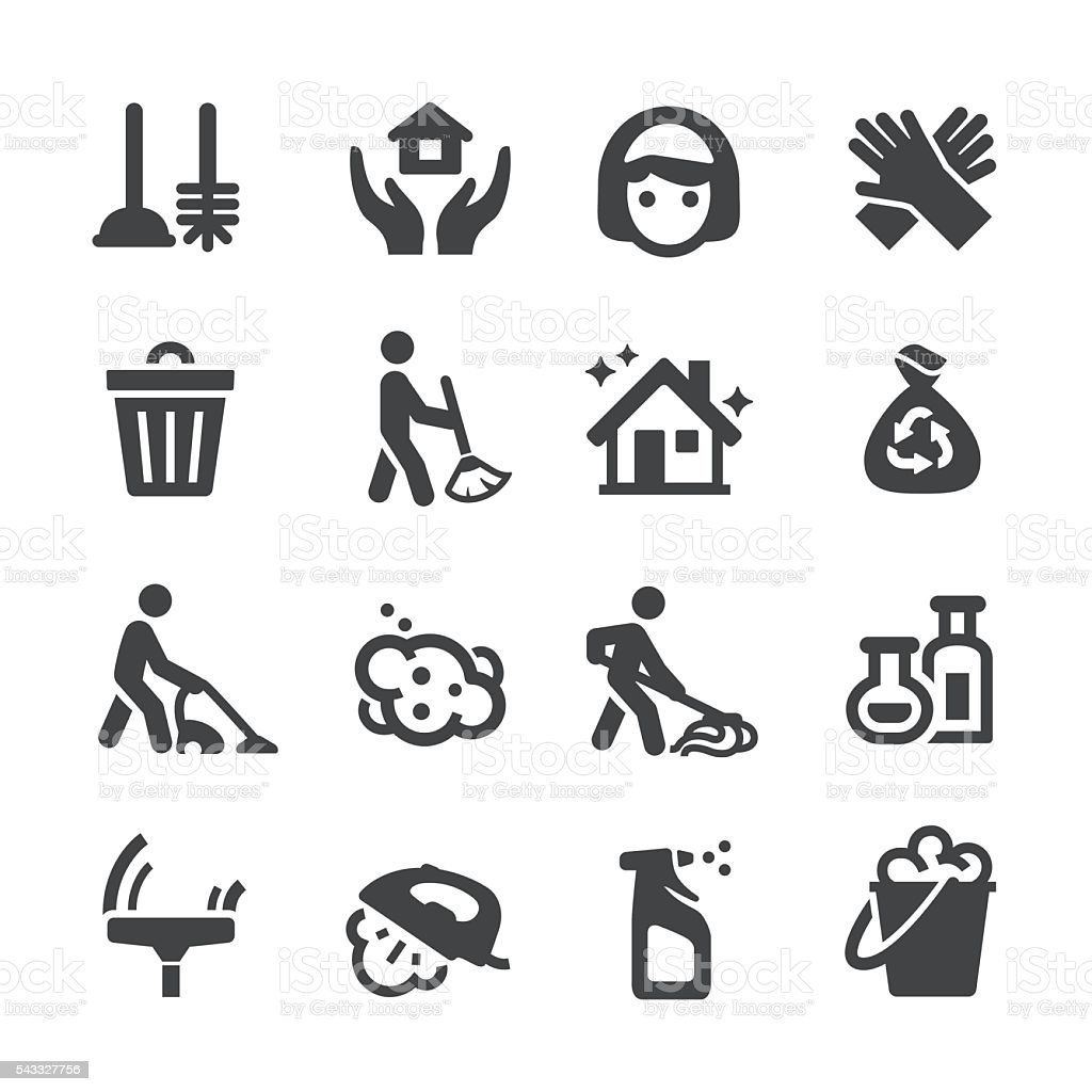 Cleaning Icons - Acme Series vector art illustration