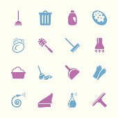 Cleaning Icons - Color Series | EPS10
