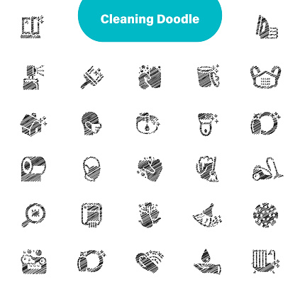 Cleaning Icons Editable Sketch