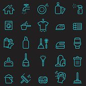 Cleaning Icons [Glow in the Dark]
