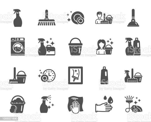 Cleaning icons laundry sponge and vacuum vector vector id1055021690?b=1&k=6&m=1055021690&s=612x612&h= vlnhxnlnwdt4zjxo8hyhzck4ctcoej0x5k35gf2f64=