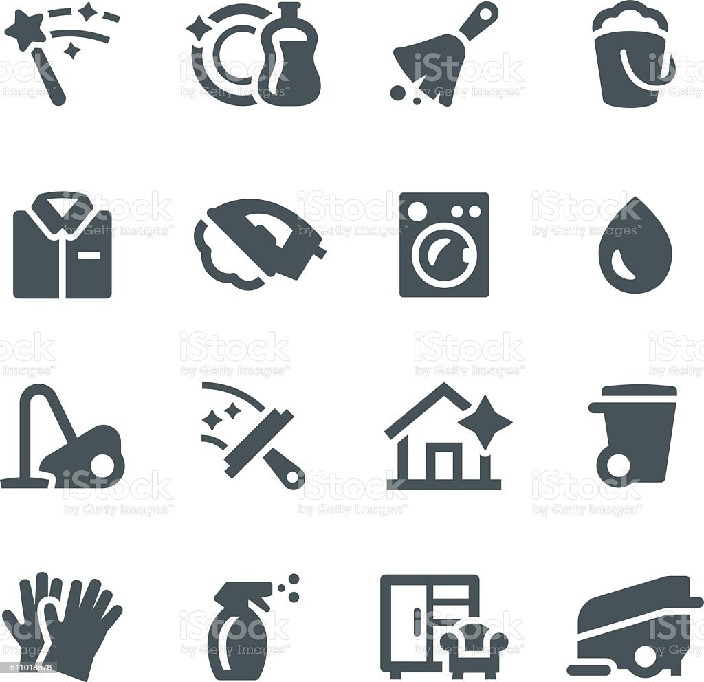 cleaning icons stock vector art more images of bucket 511018576