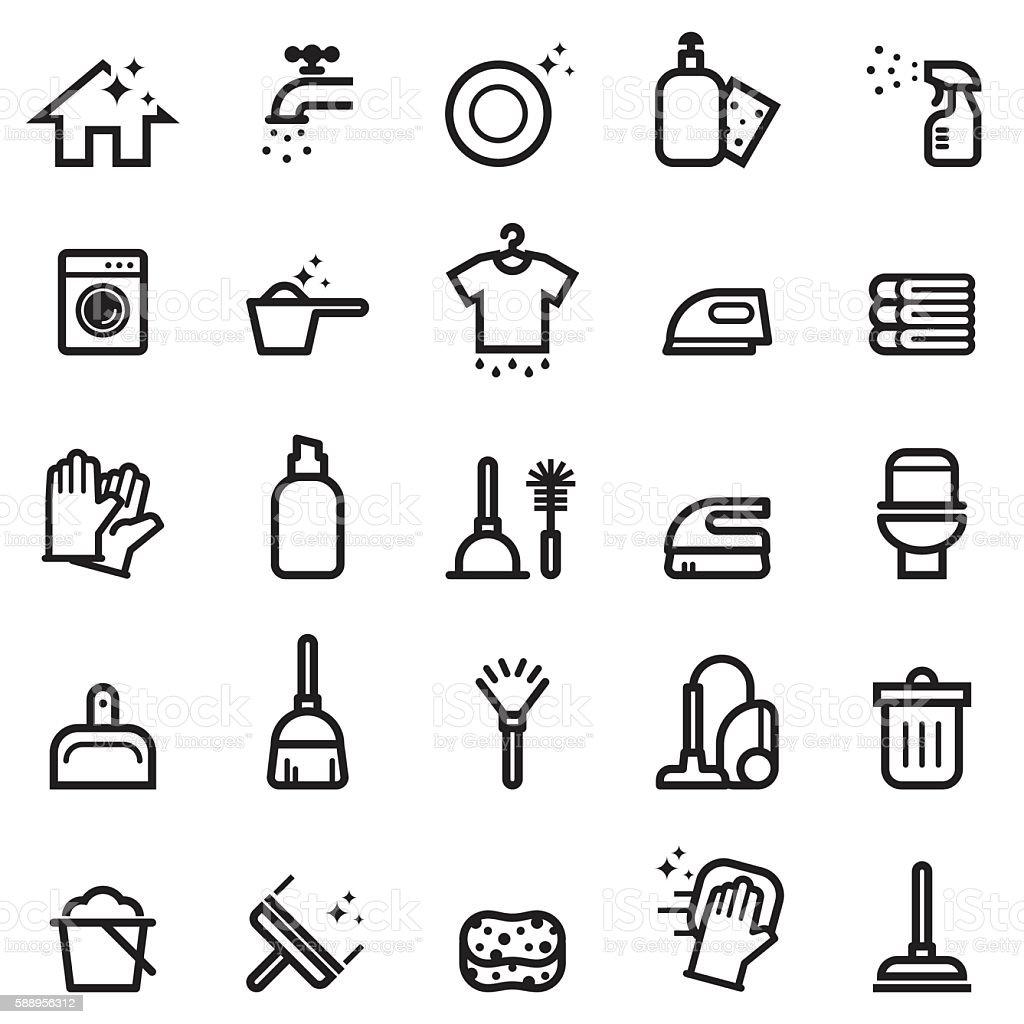 Reinigung Symbole – Vektorgrafik