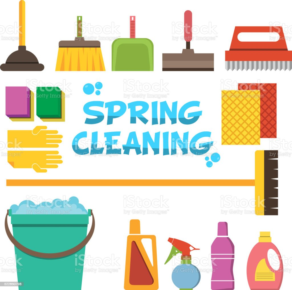 Bar Cleaning Service : Cleaning icons vector set of clean service and