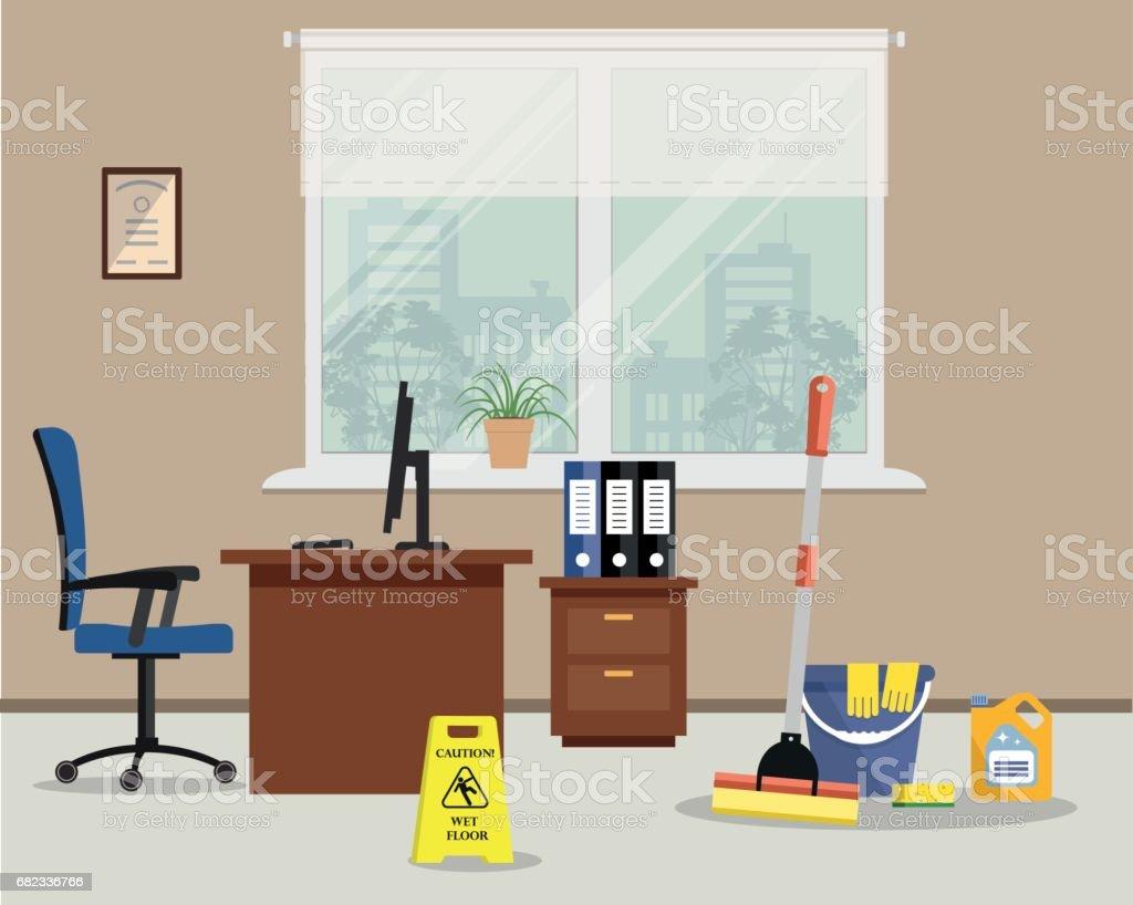 Cleaning in office royalty free cleaning in office stockvectorkunst en meer beelden van bedrijfsleven