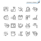 Simple vector line Icons. Editable stroke. Pixel perfect.
