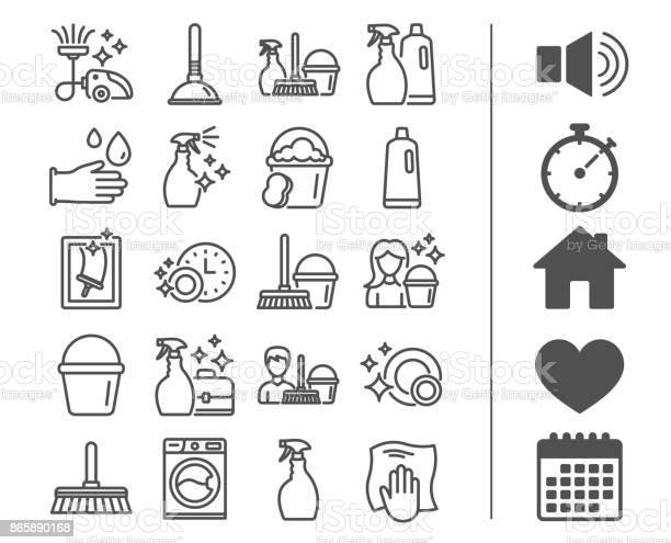 Cleaning line icons laundry sponge and vacuum vector id865890168?b=1&k=6&m=865890168&s=612x612&h=dpsg2i6kykmwued oczrbje4htetfdevropnndugzoq=