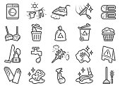 There are Clip Art Icons of cleaning business.
