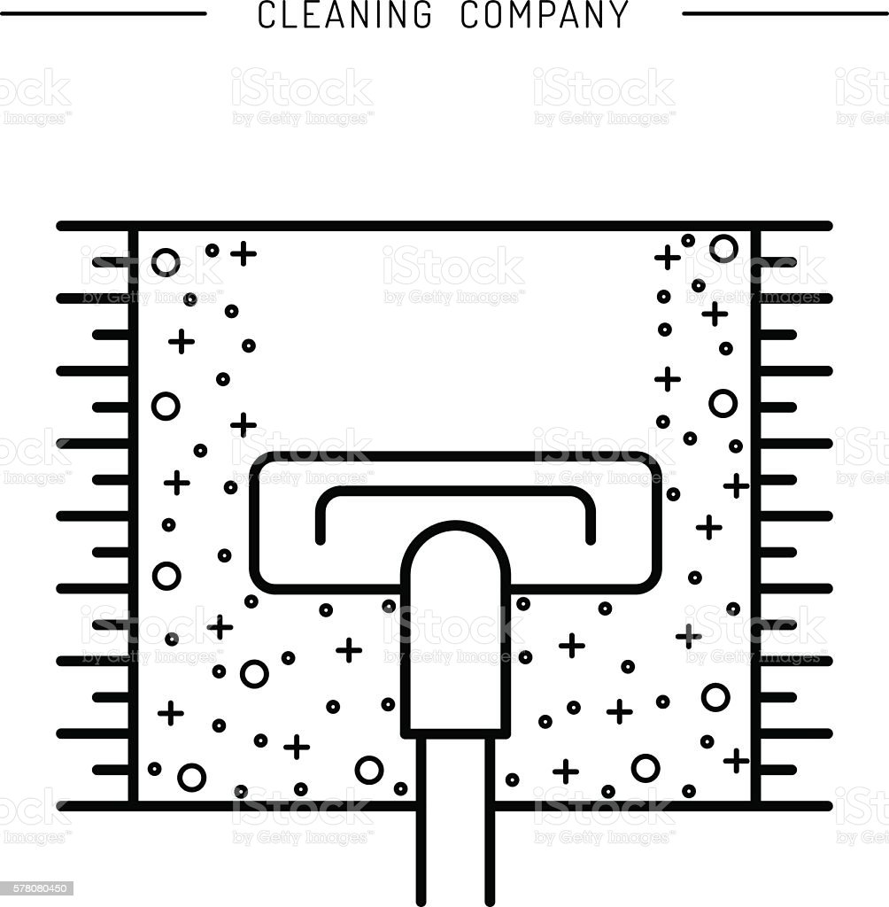 Cleaning of carpets vector art illustration