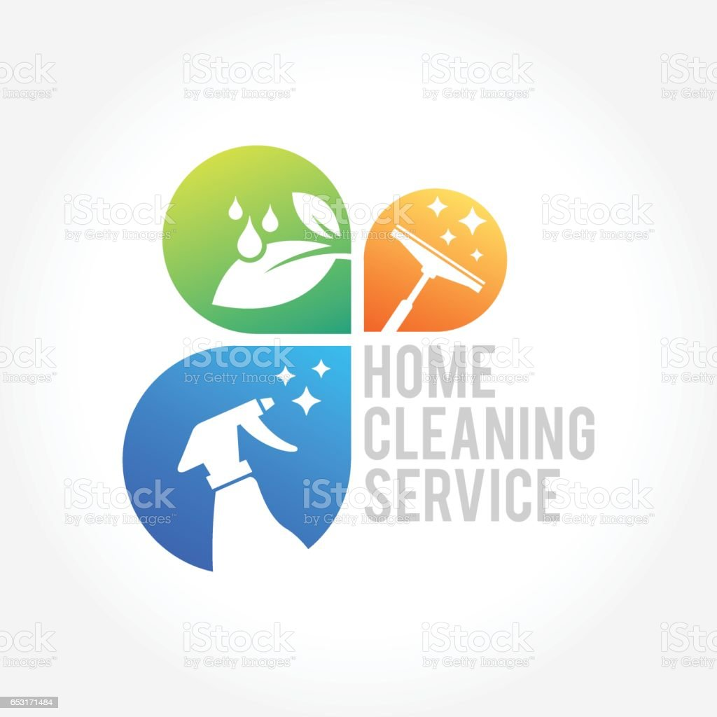 Cleaning Service Business design, Eco Friendly Concept for Interior, Home and Building vector art illustration
