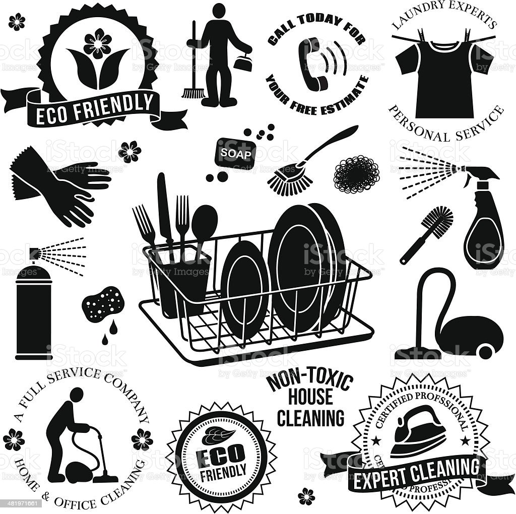 cleaning service design elements royalty-free cleaning service design elements stock vector art & more images of adult