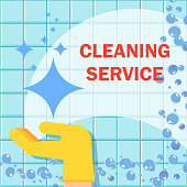 Cleaning service flat vector concept. Cleanliness and hygiene in the home and office.